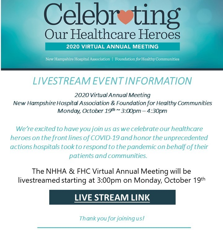 NHHA FHC 2020 Virtual Annual Meeting Livestream Link